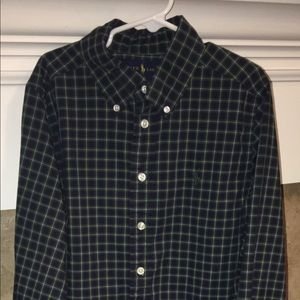 Plaid Blue/green Polo shirts size S(8) boys